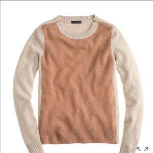 J Crew Double Zip Colour Block Sweater